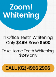 Zoom Whitening Banner Mobile Dentist Thornton