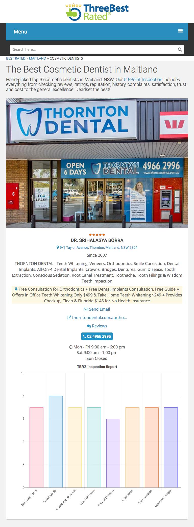 Dentist Thornton | Thornton Dental Maitland